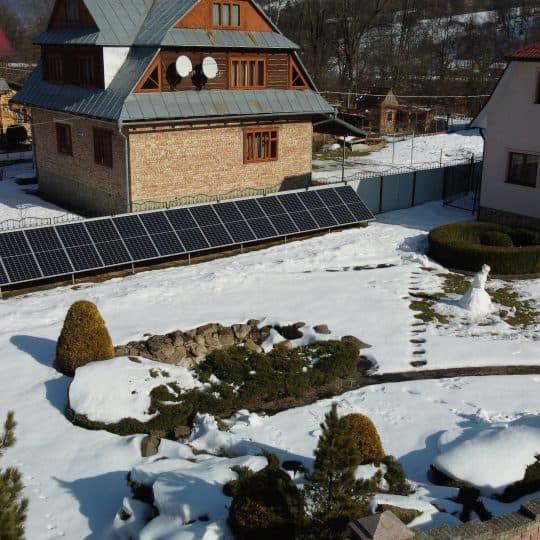 Сонячна електростанція в Яремче, 12 кВТ
